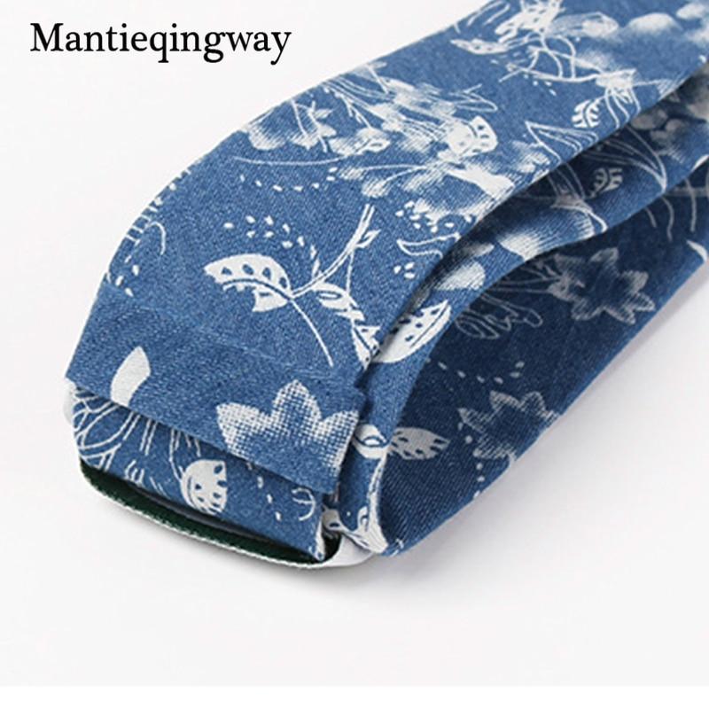 Mantieqingway 6,5 cm kokvilnas apdruka - vīriešu kaklasaite kāzu - Apģērba piederumi - Foto 5