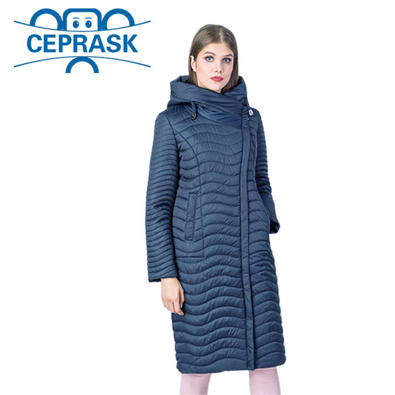 2019 New Spring-Autumn Collection High Quality Women's Jacket Warm Windproof Thin Women Parka Long Plus Size Female Coat CEPRASK