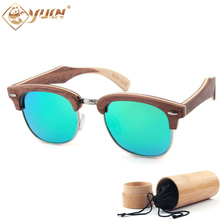 New Fashion Wood Sunglasses Polarized Handmade Ray Wooden Sun Glasses Brand Designer Eyeglasses For Men Women  W3036