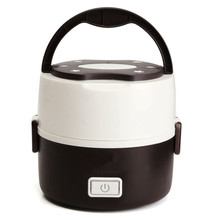 2016 Newest 1 3L Portable Lunch Box Electric Rice Cooker Stainless Steel 2 Layers Steamer