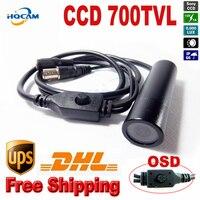 OSD Menu Mini Bullet Camera 700TVL Sony Effio CCD Color Wide Angle Ccd Mini Cctv Camera