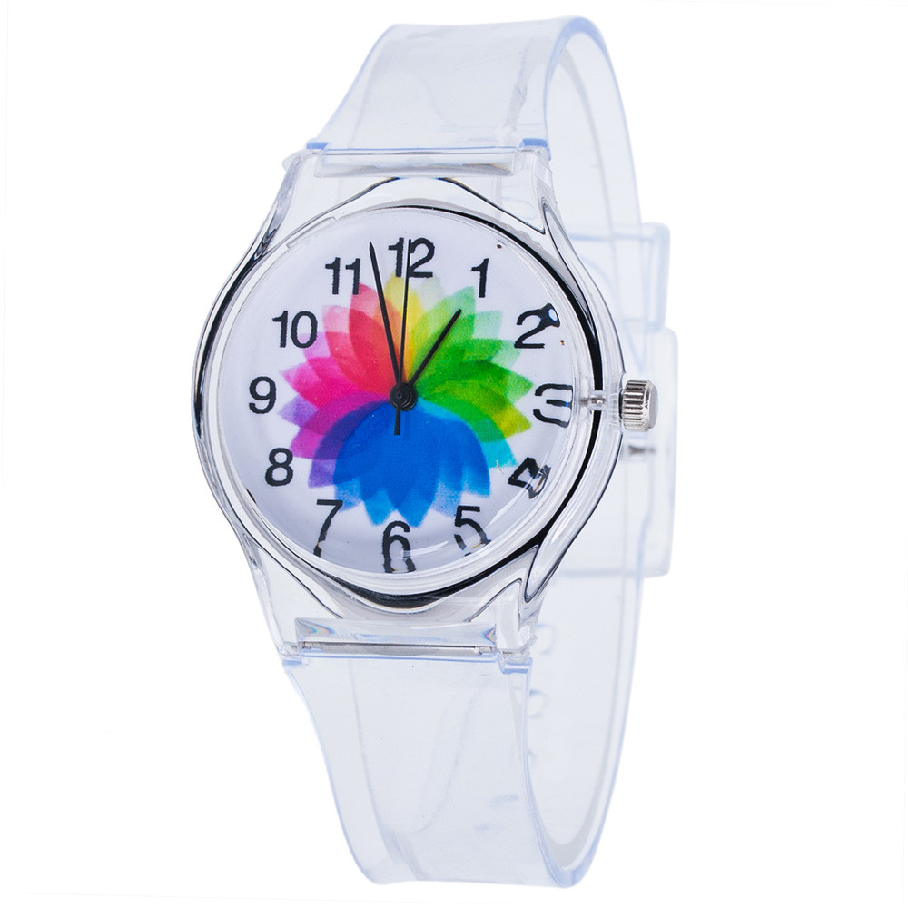 Children s watch Kids Lovely Watch Children Students Fashion Watch Girls silica Transparent Watches Relojes Hombre