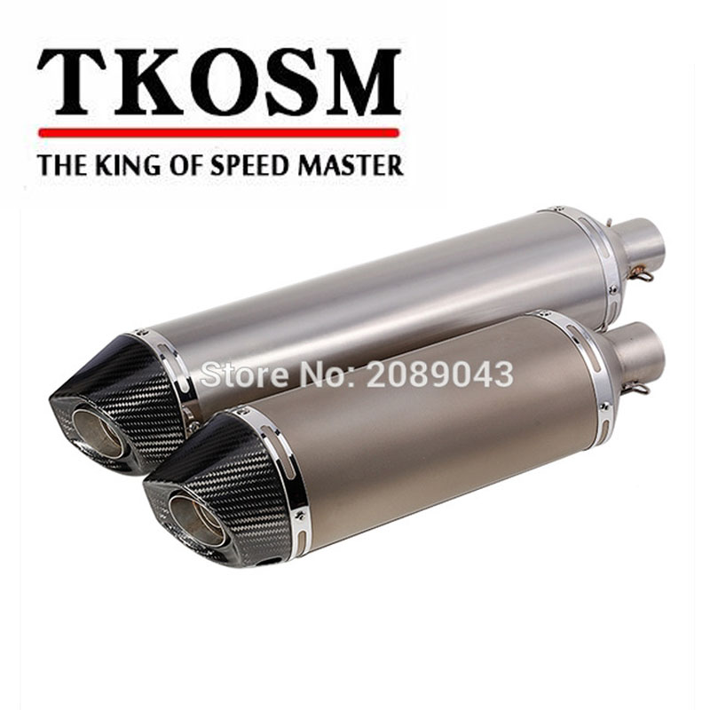 TKOSM Motorcycle Modified Exhaust Pipe Carbon Fiber Imitation Titanium Stainless Steel Oval Tube for TMAX500/530 Extended Pipe motorcycle performance exhaust pipe cnc carbon fiber oval tube large displacement car brothers exhaust pipe id 51mm