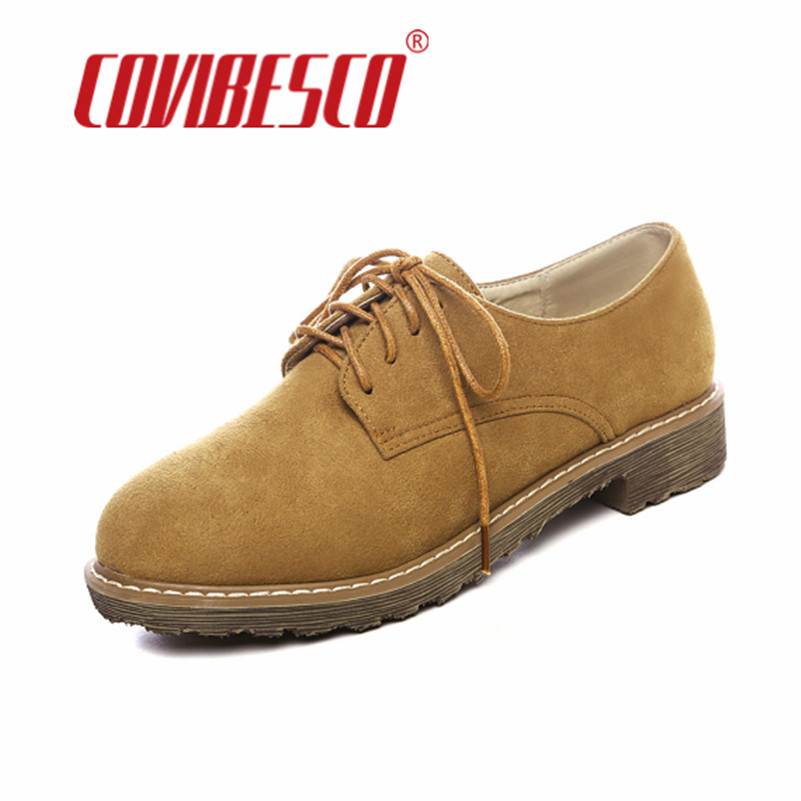 COVIBESCO Retro Brogue Spring Autumn Breathable Casual Shoes Women Flats Fashion Womens Lace Up Flats Shoes Plus Size 34-43 beyarne rivets decoration brand shoes flats women spring autumn fashion womens flats boat shoes sexy ladies plus size 11
