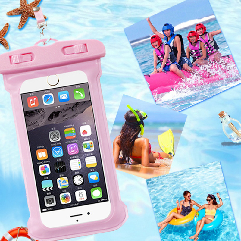 Universal Waterproof Mobile Phone Case For Samsung S8 S9 Clear TPU Sealed Underwater Cell Smart Phone Dry Pouch Cover