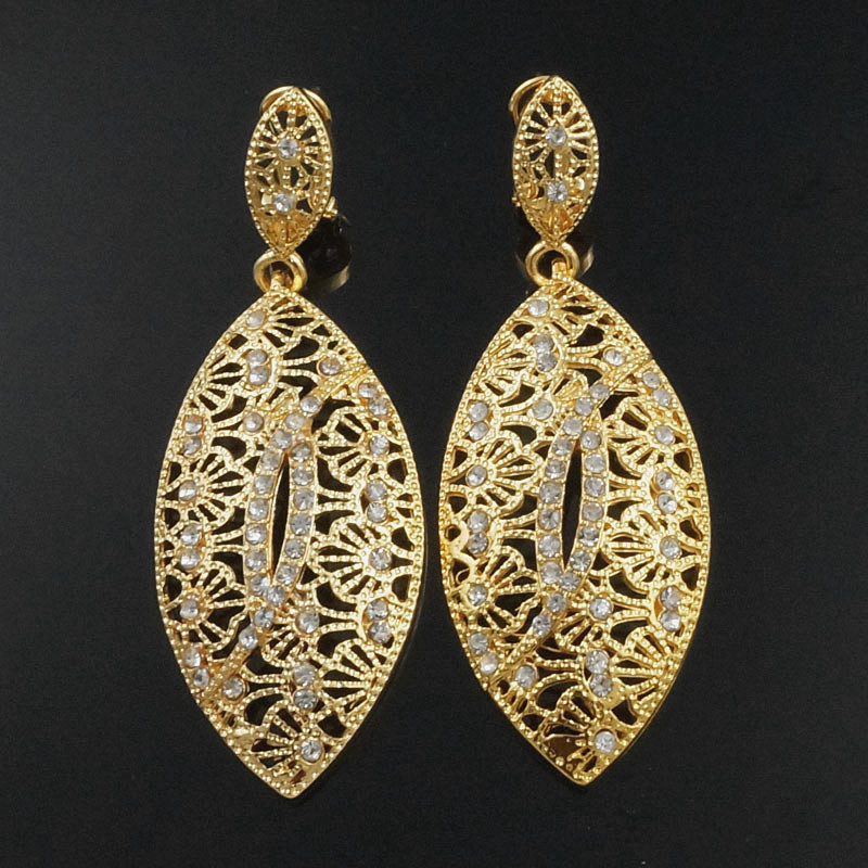 sex mama drop earrings wedding earrings gift gold Rhinestone big earrings crystal silver earrings wholesale price