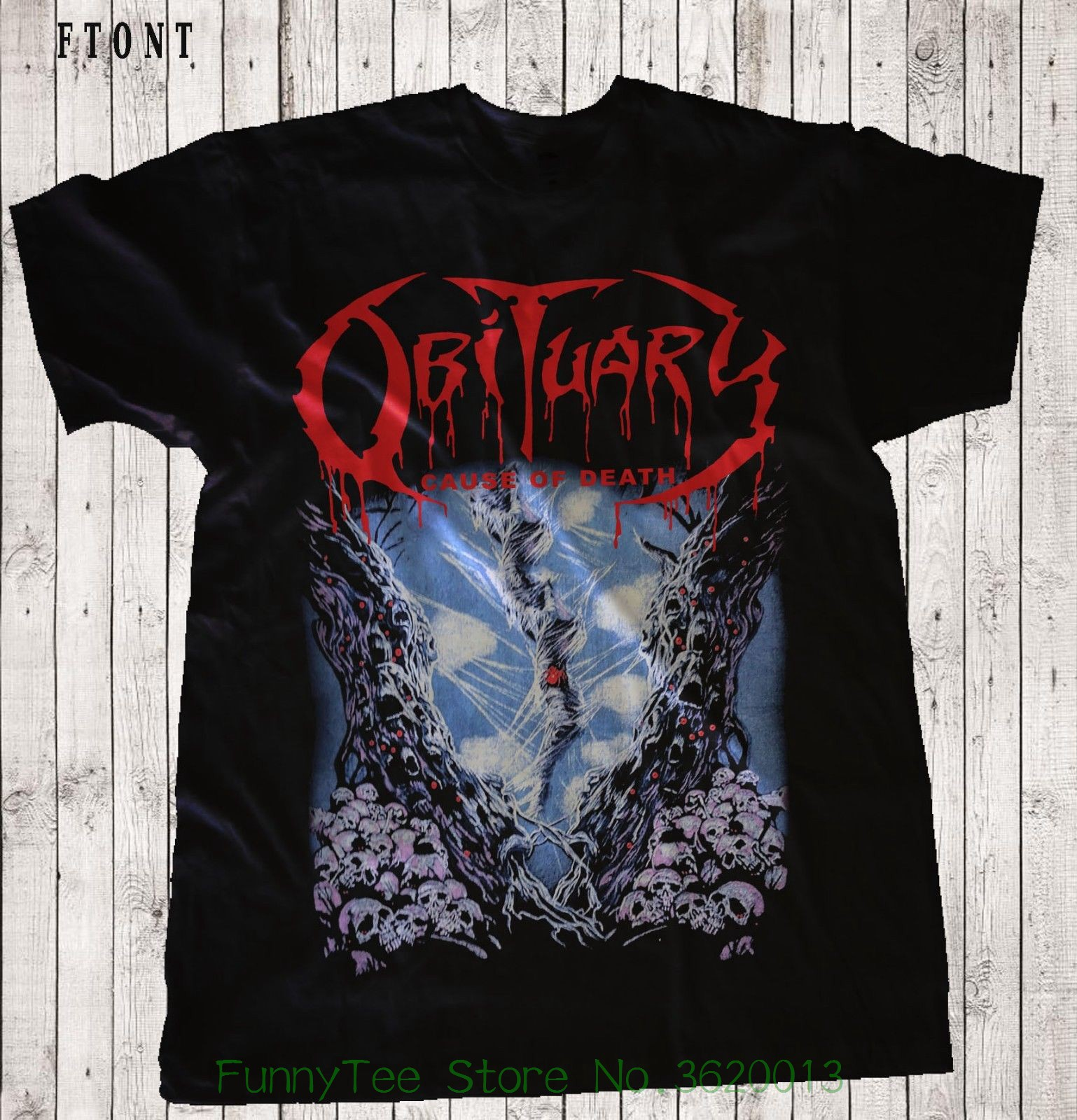 dc81b44e8 Aliexpress.com   Buy Obituary cause Of Death death Metal deicide ...