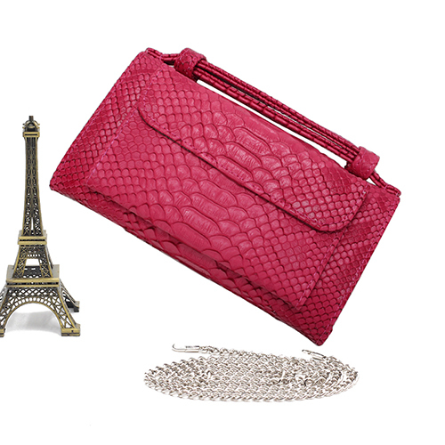 Fashion Real Cow Leather Day Clutch One Shoulder Cross-body Bag Ostrich Pattern Genuine Leather Clutch Chain Women's Handbags