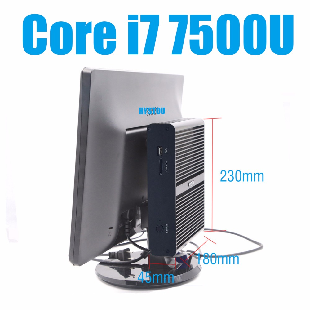 hot new intel core i7 7500u mini pc windows 10 mini computers 16gb ram 256gb ssd minipc intel. Black Bedroom Furniture Sets. Home Design Ideas
