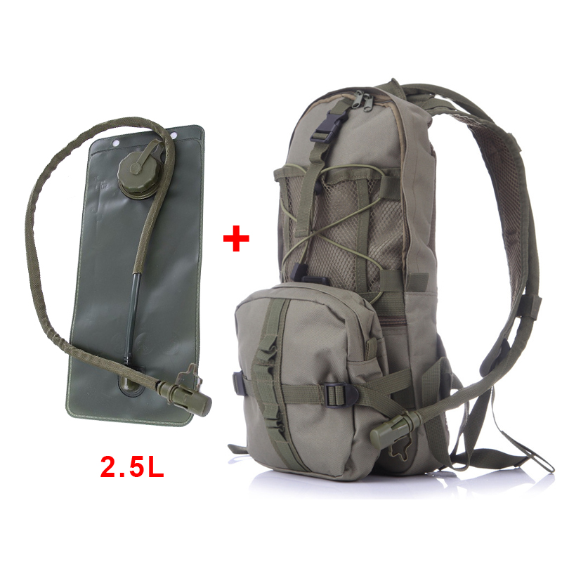 Outdoor Military Travel Camping Hiking Tactical Molle Shoulder Backpack 2.5L TPU Water Bag Rucksack MTB Bike Bicycle Sports Bag outlife new style professional military tactical multifunction shovel outdoor camping survival folding spade tool equipment