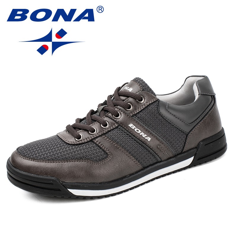 BONA New Typical Style Men Casual Shoes Lace Up Men Loafers Outdoor Leisure Shoes Comfortable Men flats Soft Fast Free Shipping