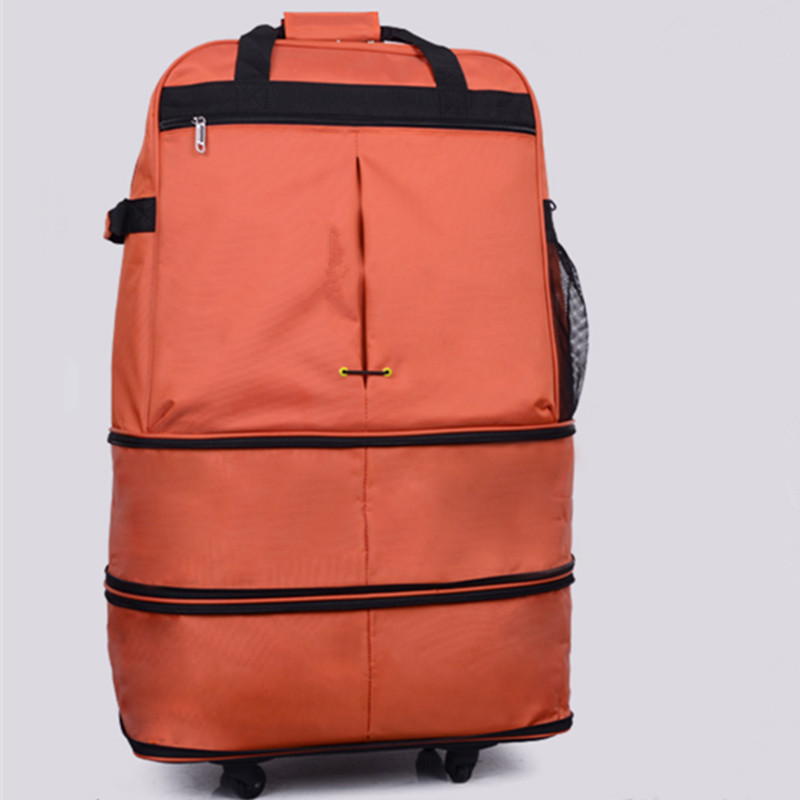 KUNDUI Large capacity Oxford cloth Consignment by Air travel Luggage bag/folding suitcase/Super great checkbox baggage/ bags kundui suitcase large food and beverage car trunk refrigerator insulation families waterproof hot lunch bag cooler bags 61 l
