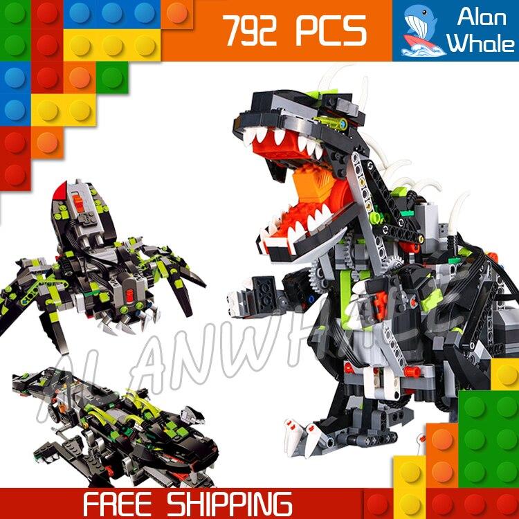 792 pièces créateur 3in1 Jurassic World Park monstre Dino 24010 Figure bloc de construction électrique dinosaure jouet Compatible avec LegoING