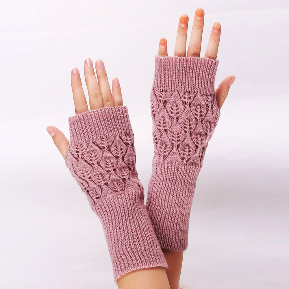 1Pair Hot Sale Women Gloves Stylish Hand Warmer Winter Gloves Women Arm Crochet -5853