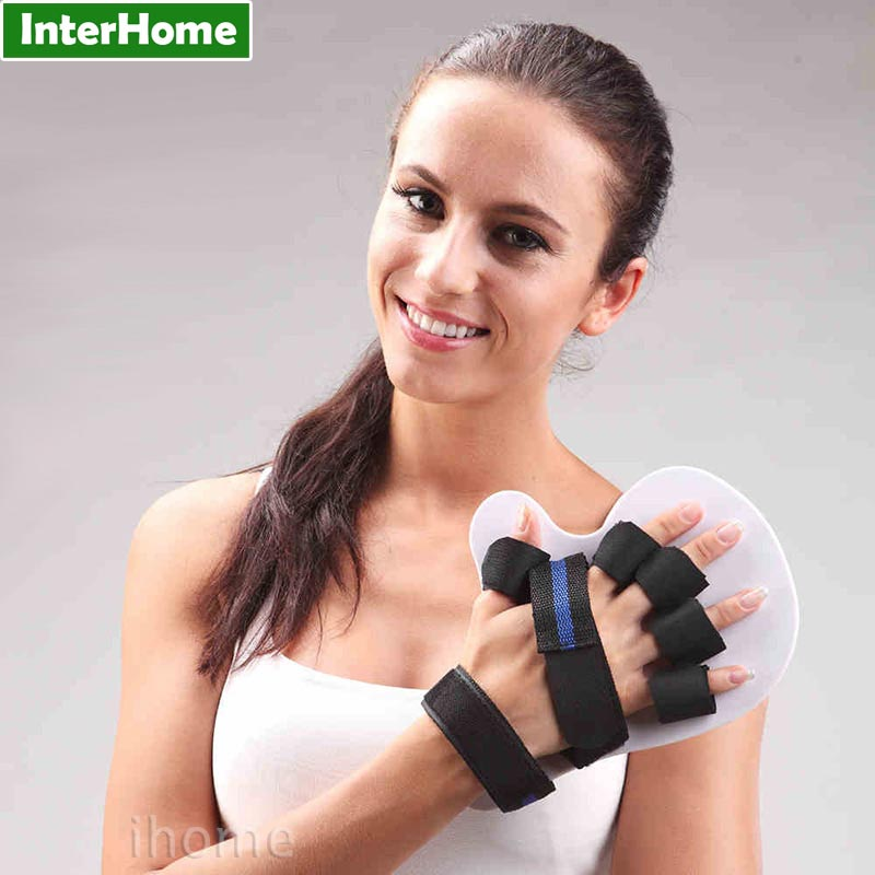 Hand Finger Spasm Extension Board Splint Apoplexy Fingers Separating Plate Orthosis Therapy Rehabilitation for Stroke Hemiplegia