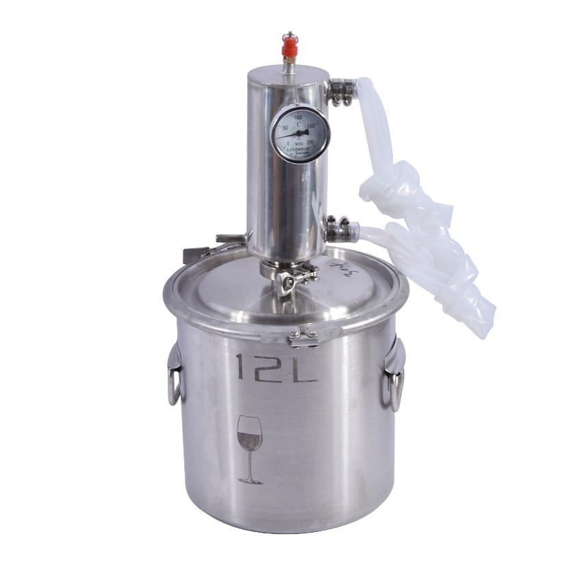 12L Moonshine Distiller Stainless Steel High Vol Liqour Maker Brandy Vodka Whisky Machine Fermentation Barrel Home Brewing Tank