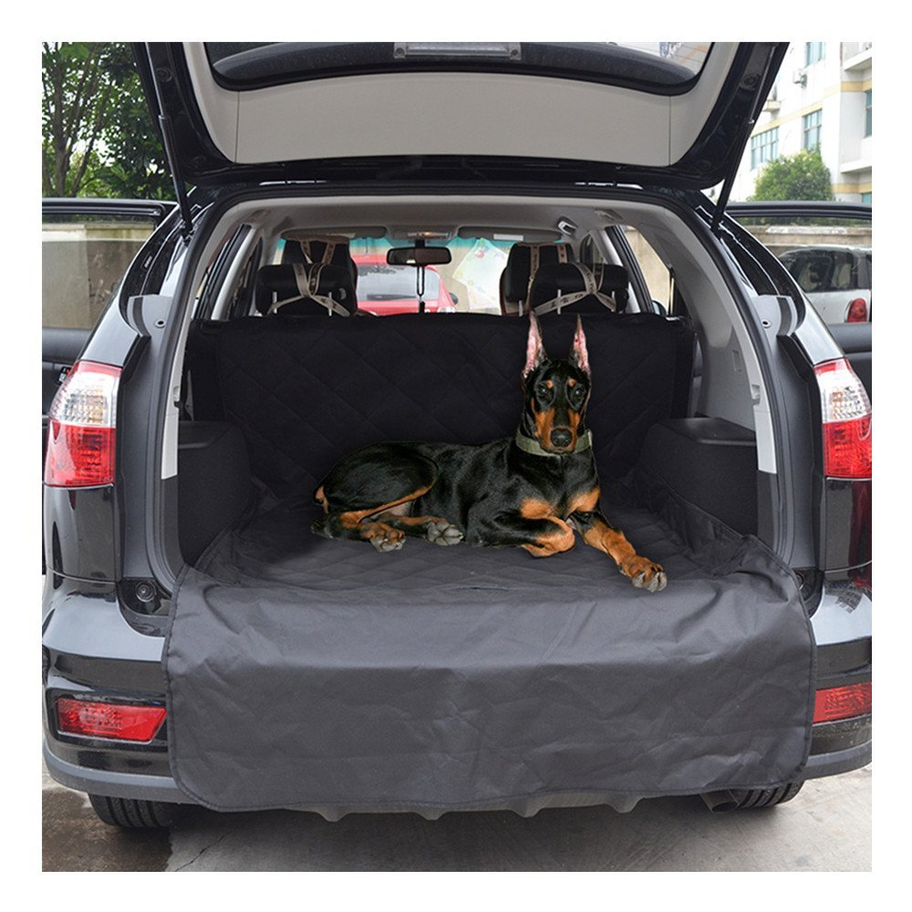 Waterproof Cargo Liner Pets Cover with Extra Bumper Flap for SUVs Trucks Cars Universal Seat Protector