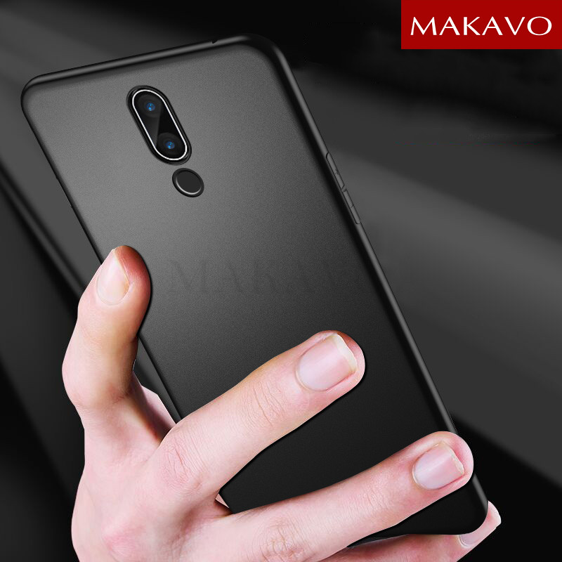 MAKAVO Cover For Meizu 15 Case Full Protection Soft Silicone Matte Phone Cases For Meizu 15 Plus Lite Meizu15 Plus