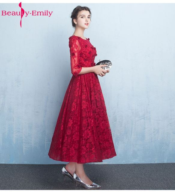 Ankle Length Red Dresses