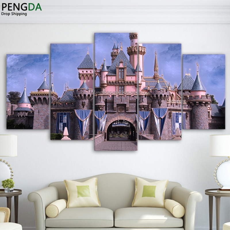 Moderne Wohnkultur Gedruckt Plakatrahmen Wohnzimmer Bilder 5 Panel ...