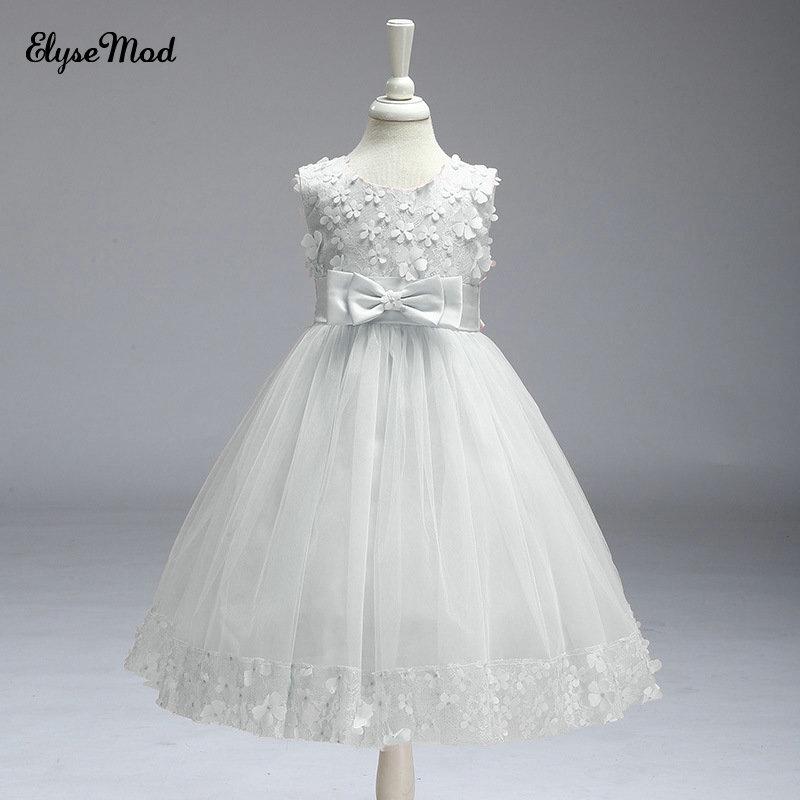 d29b7768f Venta superior sin mangas ballgown Primera Comunion para ninas 2018 flor Niñas  Vestidos para el banquete de boda - a.drshahidarafique.me