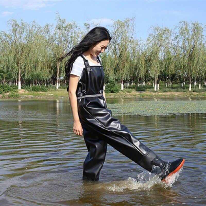 עמיד למים דיג מגפי ארך רגליי לדיג מגפים דיג נעלי דגי סרבל לנשימה חזה מגפים שכשוך מגפי שכשוך נעליים