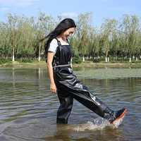 Bottes de pêche imperméables Wader pour pêche Waders chaussures de pêche poissons salopette respirant poitrine Waders bottes Wading chaussures