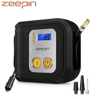 ZEEPIN 12V Auto Compressor 150psi 120W Car Tyre Inflator With Tyre Pressure Gauge / 3 Nozzles /LED Light/Auto Shut Off