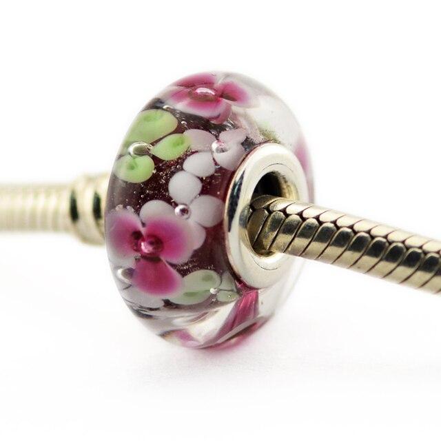 Garden Charms: Flower Garden Murano Glass Beads Fits Pandora Charms
