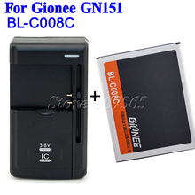 1800mAh Gionee BL-C008C Battery For Gionee Mobile Phone GN151 Batteria + Universal charger (US/EU/UK/AU)