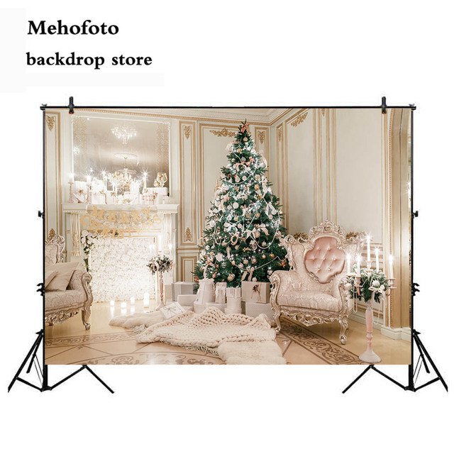 Mehofoto Christmas Background For Photography Fireplace Photo