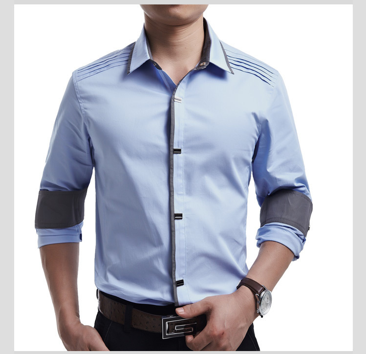 Top Quality 2017 new mens casual long Sleeve Shirts Men Rock Shirt ...