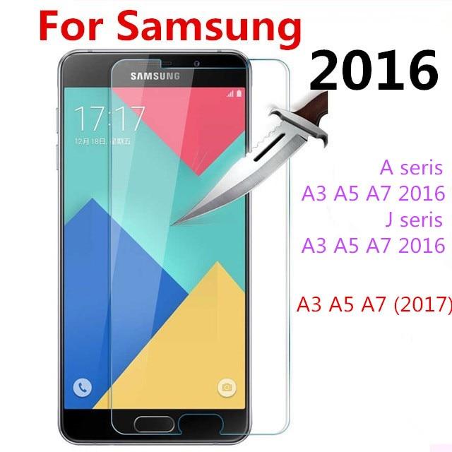 2017 Tempered Glass for Samsung Galaxy A3 A5 A7 2016 J1 J2 J3 J5 J7 J120F J320F J510F J710F Screen Protector Protective Film