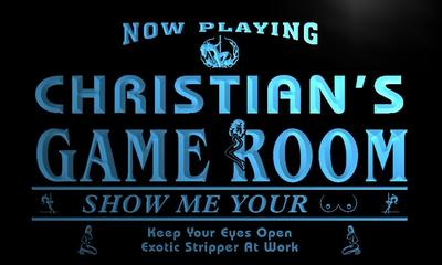 x0235-tm Christians Sexy Game Room Bar Custom Personalized Name Neon Sign Wholesale Dropshipping On/Off Switch 7 Colors DHL