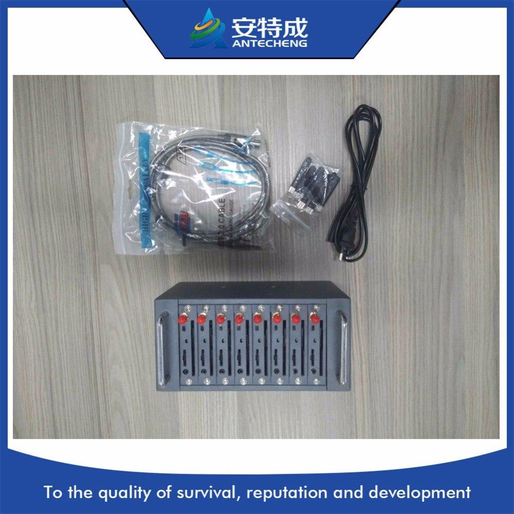 M26 gsm bulk sms modem 8 ports modem pool with imei change by AT command waveom q2303 8 ports gsm modem pool bulk sms modem with stk ussd