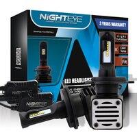 NIGHTEYE Car H4 9003 LED Auto Headlamp 6500K 80W Set 6000LM One 12V Waterproof IP68 2pcs