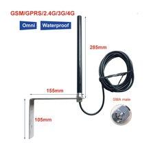 גבוהה רווח 25dBi חיצוני תחנת בסיס GSM GPRS 2.4 5G LTE 4G אנטנה RG58 כבל 3 m מזין SMA זכר פין מחבר 1PCS