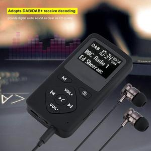Image 5 - 휴대용 dab/dab + 포켓 디지털 라디오 수신기 블루투스 mp3 플레이어 이어폰 라디오 수신기