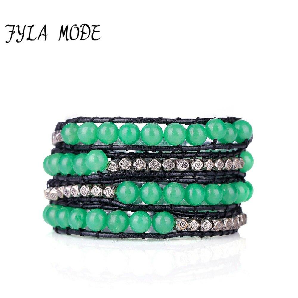 bracelet couple vert
