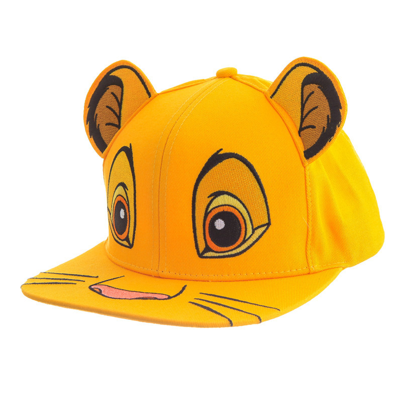 Disney The Lion King Children Hat Unisex Cute Simba Nala Face Baseball Cap Sunscreen For Children Birthday Gifts
