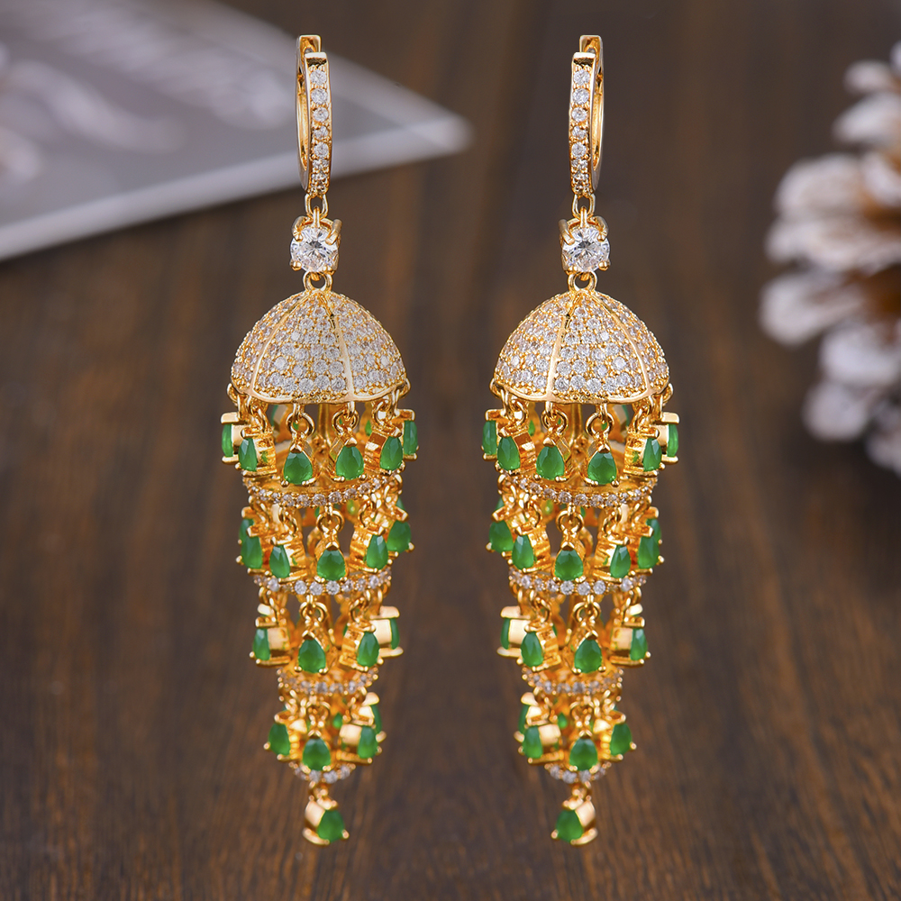 Image 2 - GODKI Luxury Trendy Long Tassel Rain Drop Dangle Earrings for 