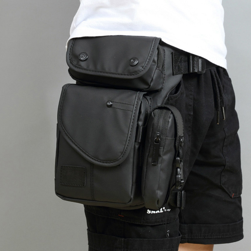 High Quality Men Canvas/Nylon Drop Leg Fanny Bag Hip Bum Thigh Pouch Motorcycle Riding Cross Body Travel Belt Waist Pack Bags