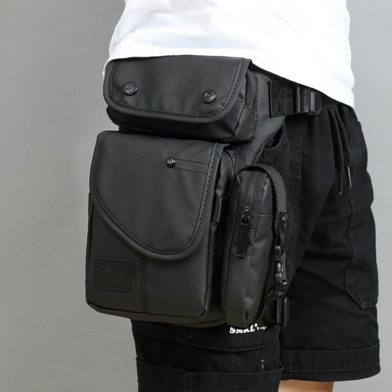 High Quality Men Canvas/Nylon Drop Leg Fanny Bag Hip Bum Thigh Pouch Motorcycle Riding Cross Body Travel Belt Waist Pack Bags