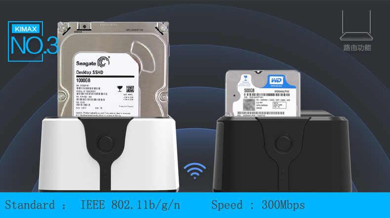 قاعدة تركيب الأقراص الصلبة 2.5/3.5 HDD حوض SATA USB 3.0 5GBPS موزع إنترنت واي فاي مكرر اللاسلكية واي فاي تخزين USB HUB قارئ بطاقات لرسو السفن