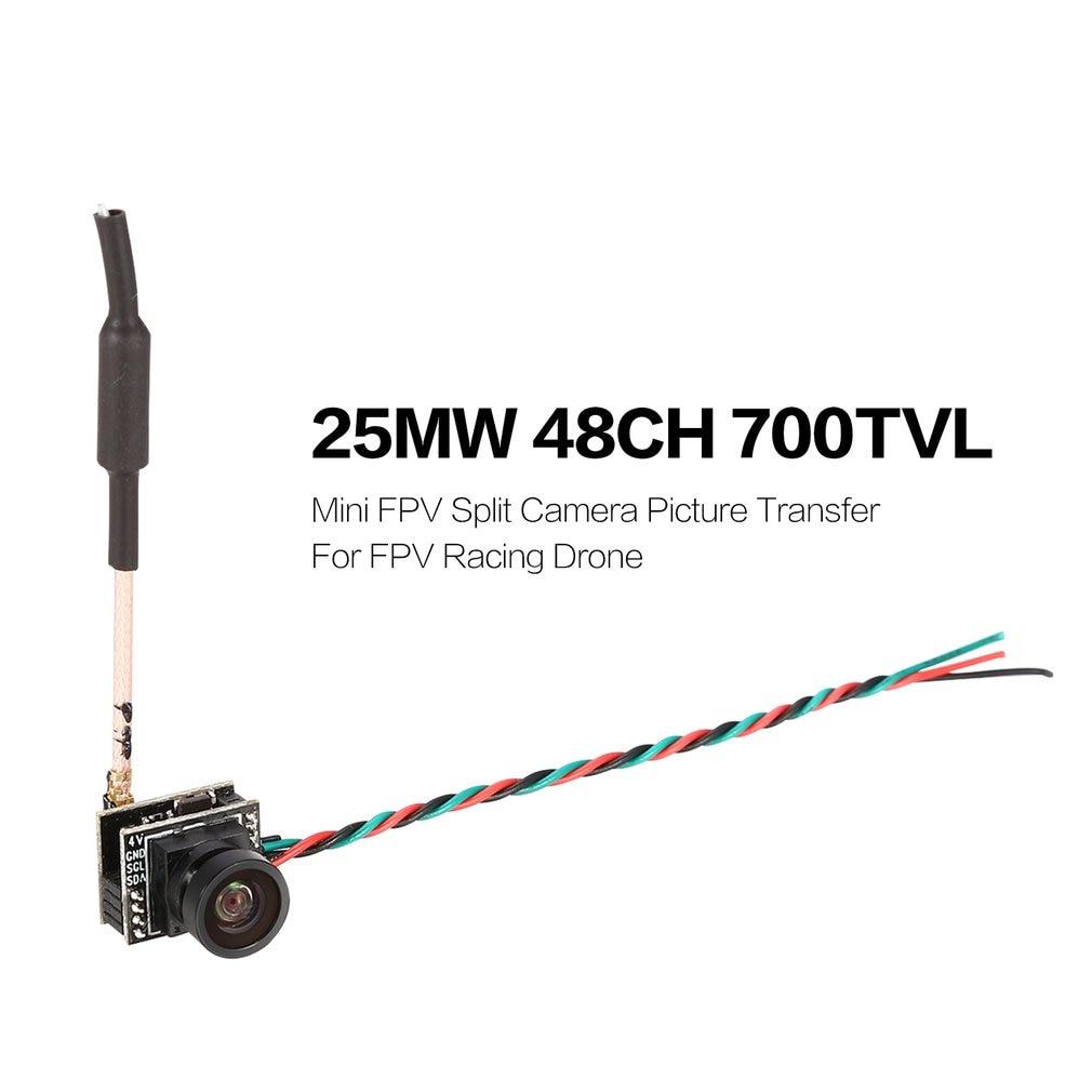Mini FPV Split Camera Picture Transfer CMOS Image Sensor 700TVL NTSC 25MW 48CH for FPV Racing Drone Quadcopter Aircraft