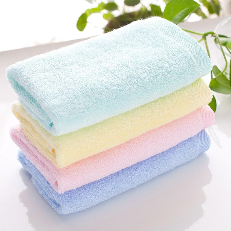 LDAJMW Dropshipping 4pcs New Bamboo Fiber FaceTowel 25*50cm/30*60cm Face Towels Baby Care Wash Cloth Hand Kindergarten Towel