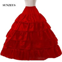 2017 Hot Sale 4 Hoops Ball Gown Petticoats For Wedding Dress Wedding Skirt Accessories Slip Bridal Petticoats Layers Ruffles S21