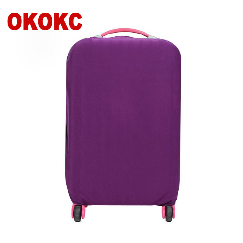 OKOKC Pure Suitcase Protective Trunk Covers Apply To 18~30 Inch Case Elastic Travel Luggage Cover Stretch Trolley Dust cover цена