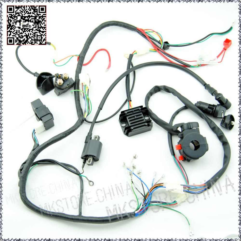 medium resolution of 250cc quad electrics 150 200cc zongshen lifan ducar razor cdi coil wire harness free shipping