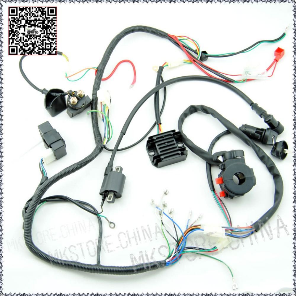 250cc QUAD ELECTRICS 150 200cc Zongshen Lifan Ducar Razor CDI COIL WIRE HARNESS Free shippingin